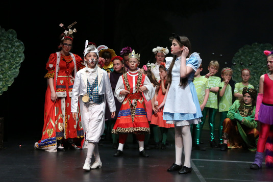 Alice and the Rabbit fron Alice in Wonderland Performed at the Mercury Theatre.